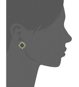 1928 Jewelry Gold Tone Crystal Earrings