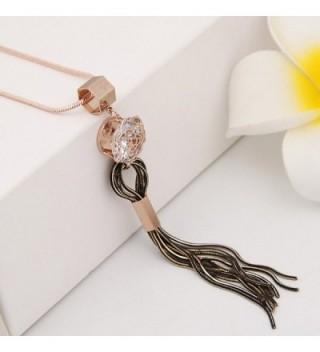 Fashion Platinum Crystal Clothing Necklace