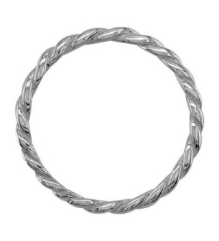 Stackable Rope 1 8mm Sterling Silver in Women's Stacking Rings