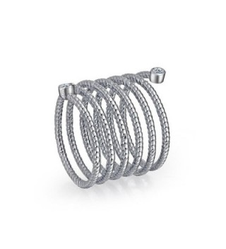 Bling Jewelry Stackable Rhodium Statement in Women's Stacking Rings