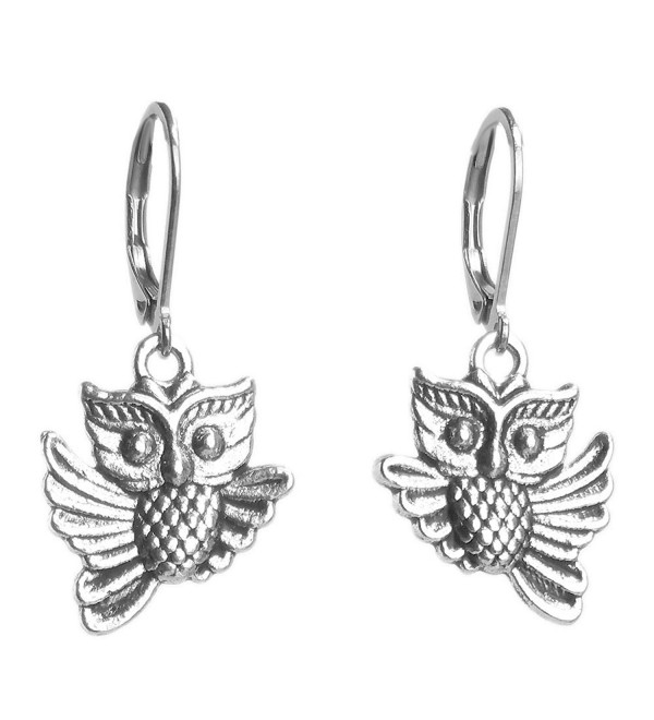 Sabai NYC Vintage Flying Owl Charm Dangle Earrings on Stainless Steel Earwires - CP185LWC8IY
