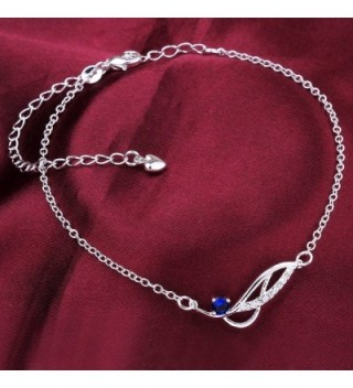 Zhiwen Infinite Bracelet Adjustable Sapphire in Women's Anklets