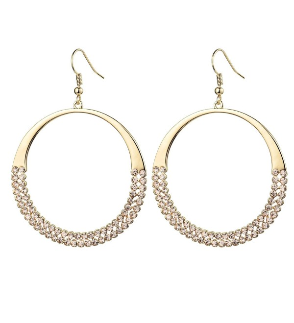 Olen Large Hoop Earrings - Peach - CH1288ZNIDB