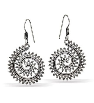 Jaipur Mart Indian Bollywood Oxidised Dangle Earrings Silver Jewellery Gift - CQ17XWC7K3R
