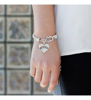 Autism Bracelet Silver Lobster Crystal