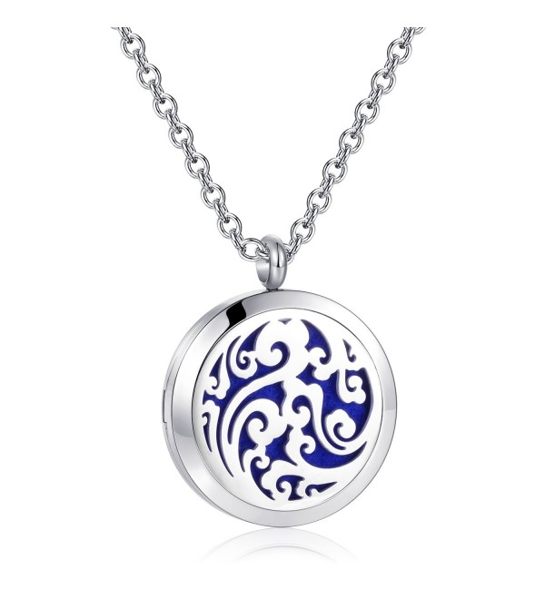 Diffuser Necklace Essential Aromatherapy Stainless - cloud oil diffuser necklace - CM188ZG39IY