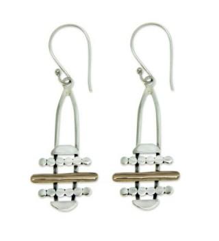 NOVICA Sterling Earrings Accents Horizon