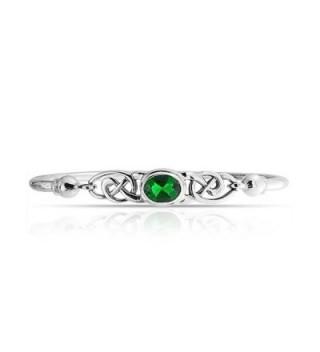 Bling Jewelry Simulated Emerald Bracelet