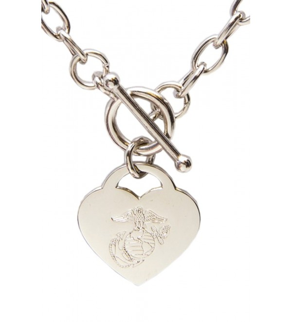 EGA Heart Silver Necklace - CR12M1I34IZ