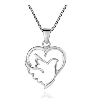 Holy Spirit Dove of Love and Peace .925 Sterling Silver Necklace - CI12MFXFY11