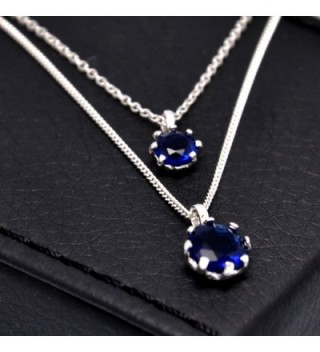 Paialco Sterling Imitation Sapphire Necklace in Women's Pendants