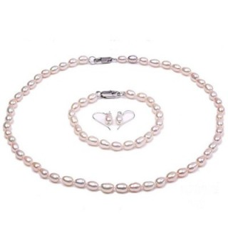 """JYX Classic Oval White Cultured Freshwater Pearl Necklace 18"""" - C017Z2L8D4Q"""