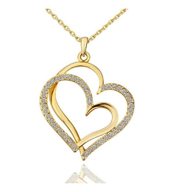 LIGHTMOON Swarovski Crystal Necklace Extender - Gold - CO12O2Y019Q