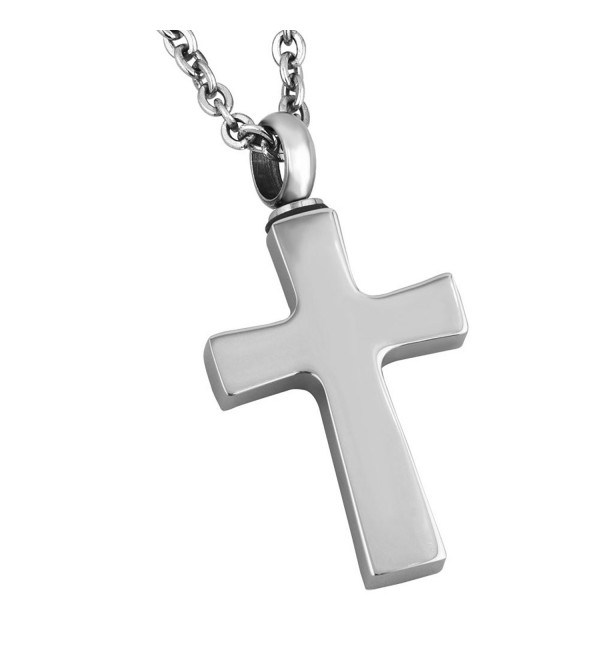 ShinyJewelry Cross Urn Necklace for Ashes Memorial Keepsake Cremation Pendant - CY17YQULUX5