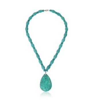 Simulated Turquoise Howlite Necklace Pendant