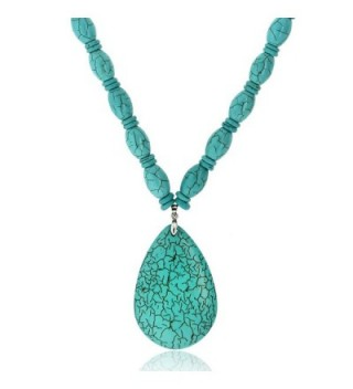 Simulated Turquoise Howlite Necklace Pendant in Women's Jewelry Sets