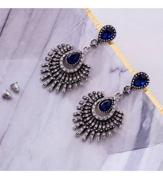 Omnichic Sapphire Statement Earrings Birtyday in Women's Drop & Dangle Earrings