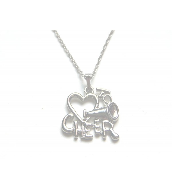 Silver Love To Cheer Cheerleading Chain Necklace (Brand New) - C411FW80SUJ