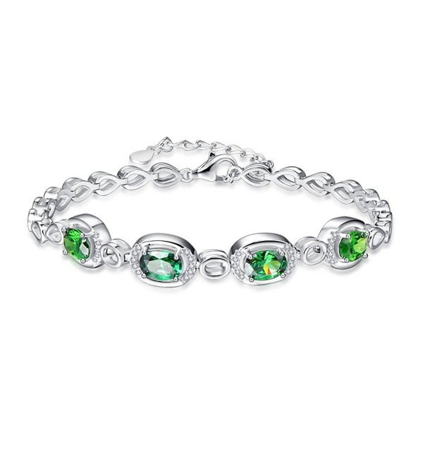 BONLAVIE Birthstone Created Sterling Bracelet - Created Emerald - CX186YHZHCA