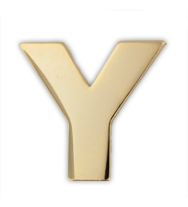 PinMart's Gold Plated Alphabet Letter Y Lapel Pin - CM119PEMFLL