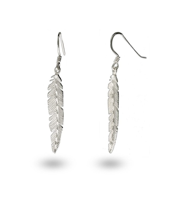 Sterling Silver Feather Earrings - CS11383P3EL