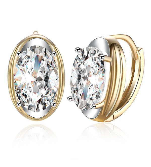 FENDINA Leverback Earrings Champaign Zirconia - champaign-gold - C51824QR3OQ
