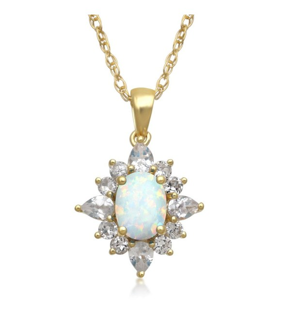 Jewelili Sterling Sapphire Blooming Necklace - C41855EQK3C