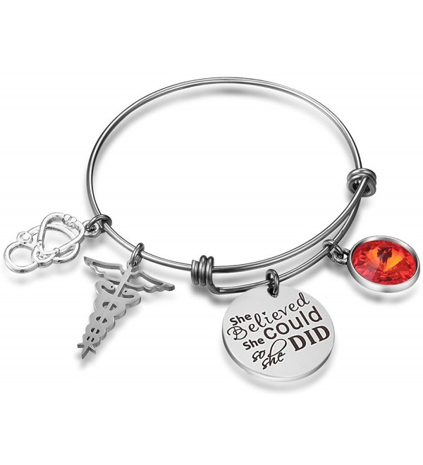 Nurse Expandable Birthstone Graduation Stainless - CS180EMN6CS