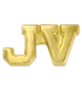 "JV Junior Varsity Gold Chenille 3/4"" Lapel Pin - CS11KJ0D0I7"