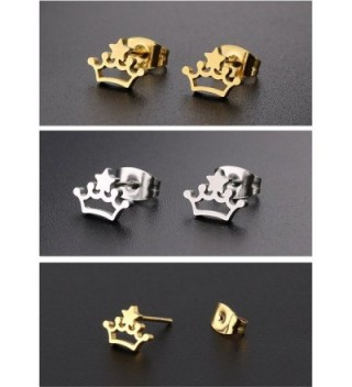Silver Yellow Gold Plated Stainless Earrings