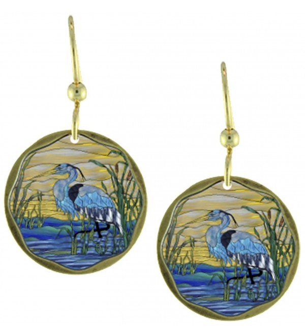 Earth Dreams-Blue Heron Earrings - C7187NMXEKM