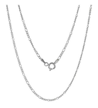 Sterling Silver Figaro Chain Anklet Figaro Ankle Chain 2mm - 5.5mm Nickel Free Italy 9-10 inch - CL11LKPFIGR