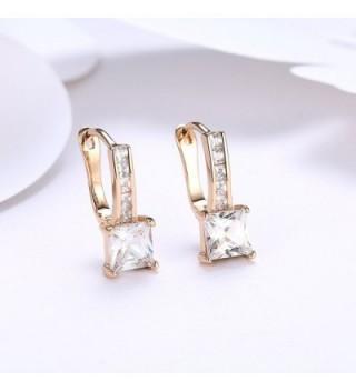 Zirconia Diamond Earrings Champagne DreamSter in Women's Hoop Earrings