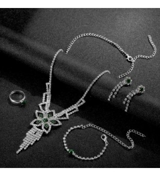 OUFO Fashion RhineStone Bracelet Necklace in Women's Jewelry Sets