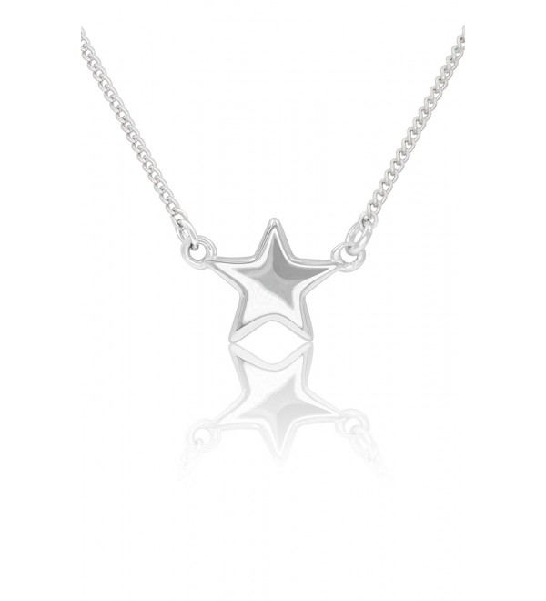 Sterling Silver Star Necklace Pendant and Bracelet with Cable Chain - CP17Y0T5UMM