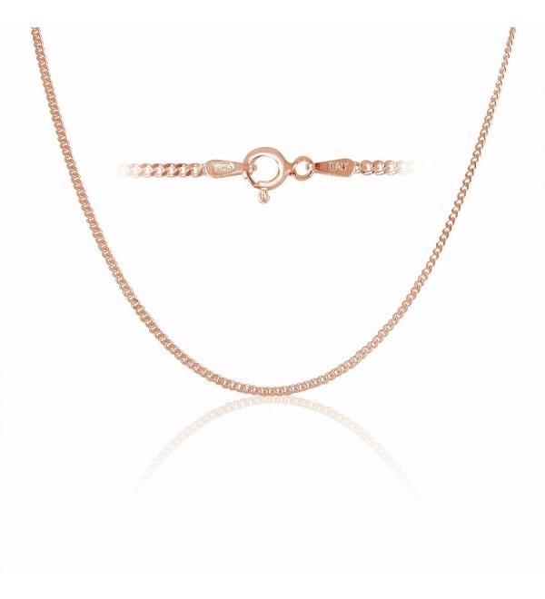 Sterling Silver Thin Cuban Curb Link Chain Necklace Bracelet 1.8mm - C511X9CXX0R