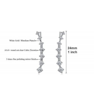 Climber Crawler Earrings Zirconia Hypoallergenic