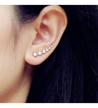 Climber Crawler Earrings Zirconia Hypoallergenic in Women's Cuffs & Wraps Earrings