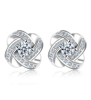 Eyesworld 925 Sterling Silver 3A Zirconia Women Earrings Sets - CV185274ZZ4