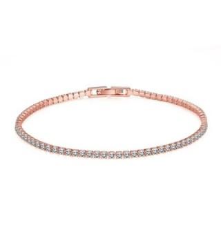 Star Jewelry Simple Style CZ Crystal Gold Plated Women Link Bracelet - CZ182DX0K76