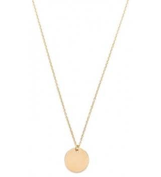 Circle Necklace Gold Plated | Minimalist Necklace with Round Disc Pendant Geometric Minimalist Design - CT187CC30U0