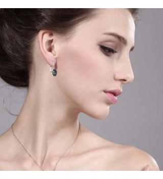 Mystic Earrings Sterling Silver Leverback in Women's Drop & Dangle Earrings