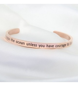 WUSUANED Inspirational Messaged Bracelet courage in Women's Bangle Bracelets