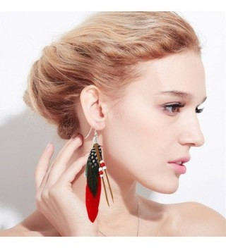 MFIIDEN Feather Earrings National Temperament