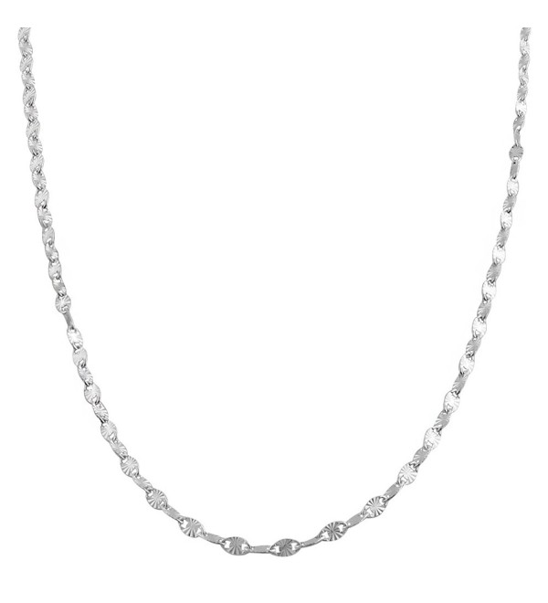Sterling Silver 2.2-mm Diamond-cut Flat Oval Disc Chain (30 Inch) - CC118KZ1C29