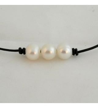 Bodai Freshwater Necklace Genuine Leather