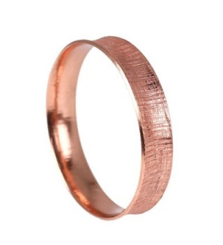Linen Anticlastic Copper Bangle Bracelet - Handmade Copper Jewelry - Anti-tarnish - CF11UV0DBEN