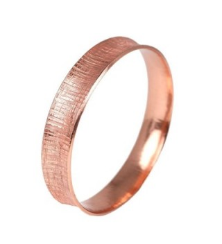 Linen Anticlastic Copper Bangle Bracelet in Women's Cuff Bracelets