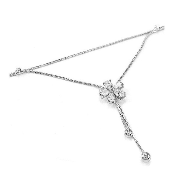 Glamorousky Elegant Flower Anklet with Silver Austrian Element Crystals (3533) - CP118SOEQ0R