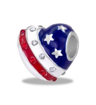 DaVinci Bead Patriotic Heart - Jewelry Bracelet Memories Beads DB96-8-DAV - CU11CUQNQM3